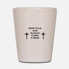 Keep Calm and Carry Rope Shot Glass