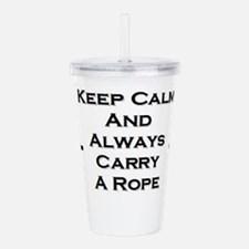 Keep Calm and Carry Ro Acrylic Double-wall Tumbler