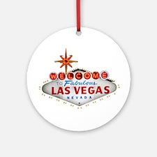 Las Vegas Round Ornament