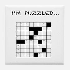 I'm puzzled Tile Coaster