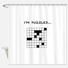 I'm puzzled Shower Curtain