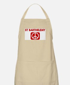 ST BARTHELEMY for peace BBQ Apron