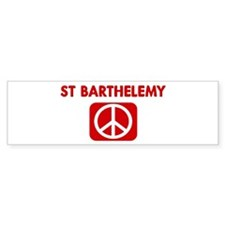 ST BARTHELEMY for peace Bumper Bumper Sticker