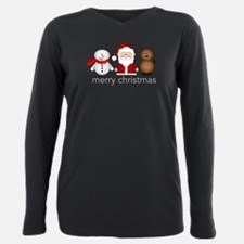 Cool Christmas Plus Size Long Sleeve Tee