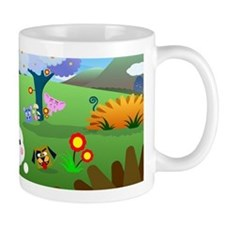 Happy Colorful Planet 01 Mugs