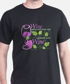 Wine Improves With Age Saying T-Shirt