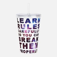 Learn rules properly Acrylic Double-wall Tumbler