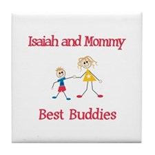 Isaiah & Mommy - Buddies Tile Coaster