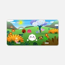 Happy Colorful Planet 01 Aluminum License Plate
