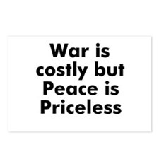 War is costly but Peace is Pr Postcards (Package o