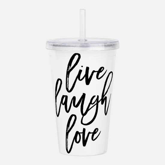 Live Laugh Love Acrylic Double-wall Tumbler