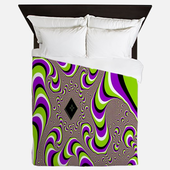 Cute Optical illusion Queen Duvet