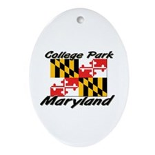 College Park Maryland Oval Ornament