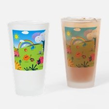 Happy Colorful Planet 02 Drinking Glass