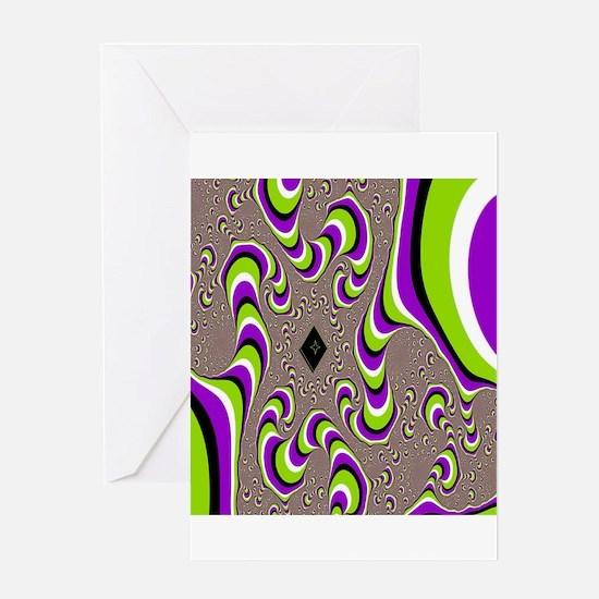 optical illusion Greeting Cards