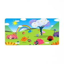 Happy Colorful Planet 02 Aluminum License Plate