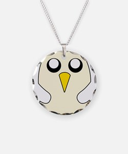 Penguin Adventure time Necklace Circle Charm