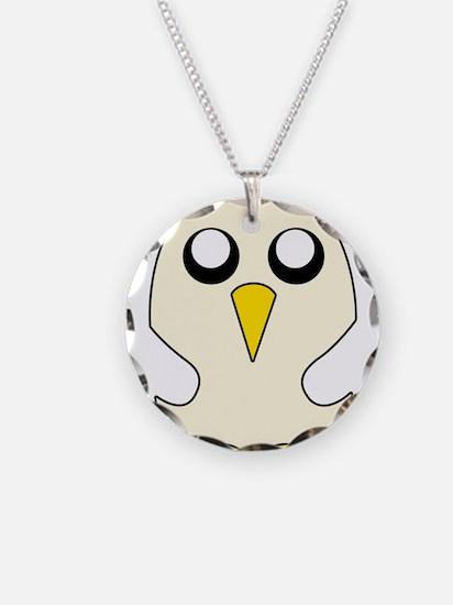 Penguin Adventure time Necklace Circle Charm