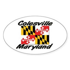 Colesville Maryland Oval Decal