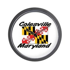 Colesville Maryland Wall Clock