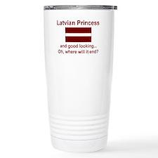 Cute Flag of latvia Travel Mug