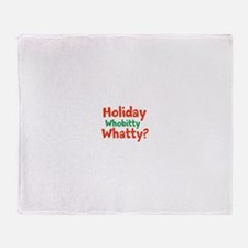 Holiday Whobitty Whatty Throw Blanket