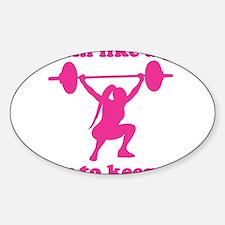 Cute Cross fit Sticker (Oval)