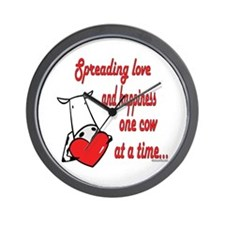 Spreading Love Cows Wall Clock