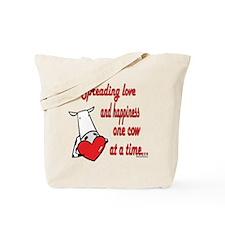 Spreading Love Cows Tote Bag