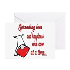 Spreading Love Cows Greeting Cards (Pk of 10)