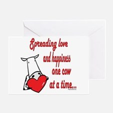 Spreading Love Cows Greeting Card