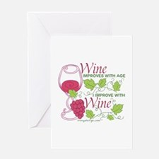 Wine Improves With Age Greeting Cards