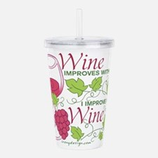 Wine Improves With Age Acrylic Double-wall Tumbler