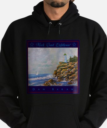 Rock Coast Lighthouse Hoodie