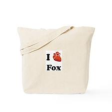 I (Heart) Fox Tote Bag