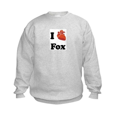 I (Heart) Fox Kids Sweatshirt