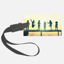 Happy Children Playing Luggage Tag