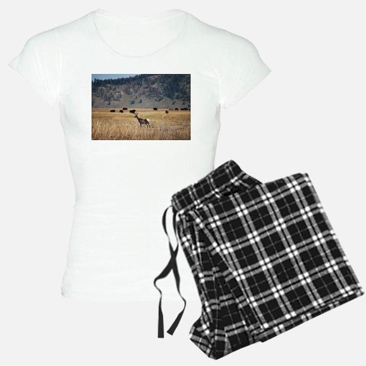 Yellowstone Bison and Antel Pajamas