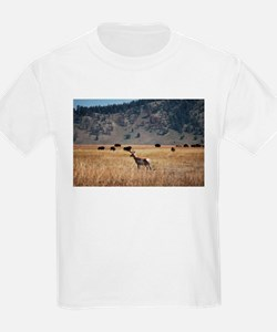 Yellowstone Bison and Antelope T-Shirt