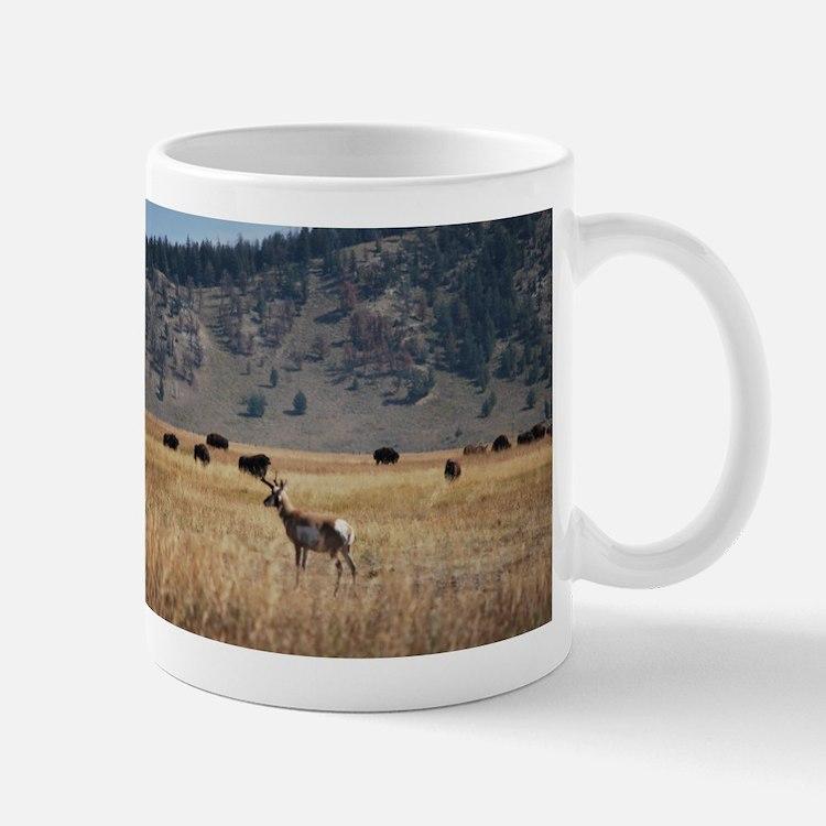 Yellowstone Bison and Antelope Mugs