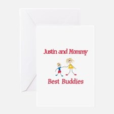 Justin & Mommy - Buddies Greeting Card