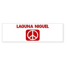 LAGUNA NIGUEL for peace Bumper Bumper Sticker