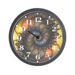 Dark Shell Fractal Wall Clock