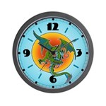 Sun Dragon Wall Clock