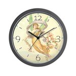 Floating Fairy Wall Clock