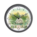 Swimming Swan Wall Clock
