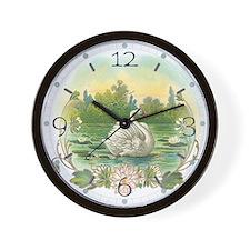 Swimming Swan Wall Clock