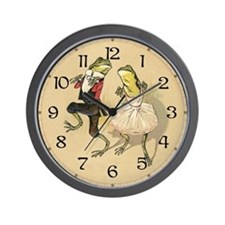 Froggy Cakewalk Wall Clock