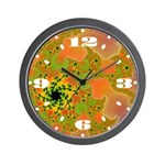 Tropicanna Twist Fractal Wall Clock