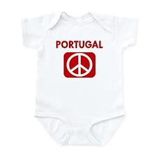 PORTUGAL for peace Infant Bodysuit